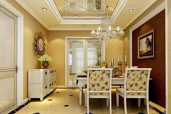 三室二厅欧式餐厅样板房装修效果图