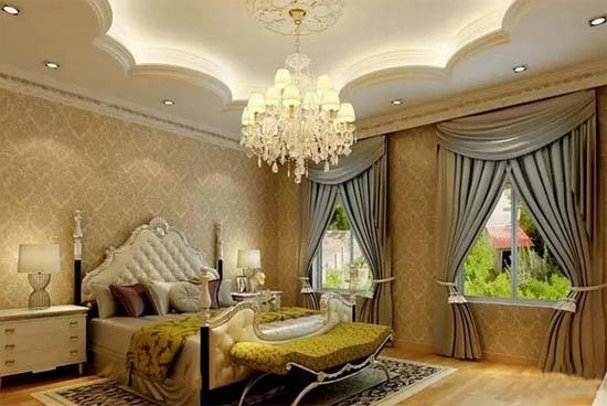 三室二厅欧式卧室样板房装修效果图