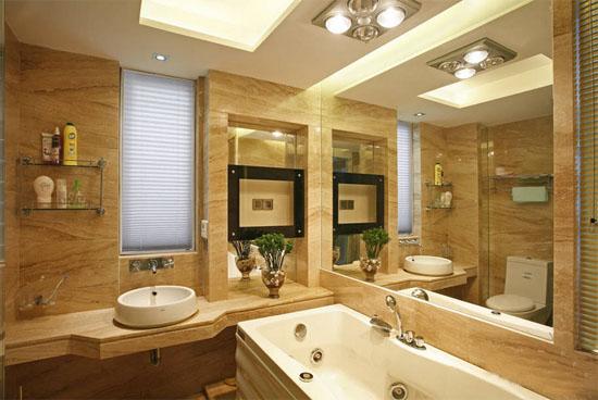 三室二厅欧式卫生间样板房装修效果图