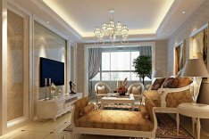 纯欧式客厅装修效果图