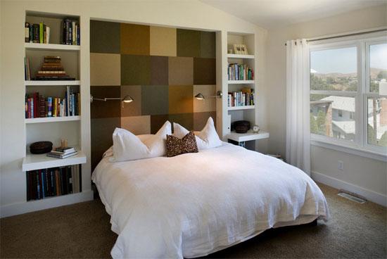 这同样符合现代简约卧室的装修风格