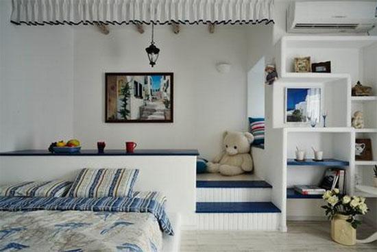 地中海风格榻榻米卧室装修效果图