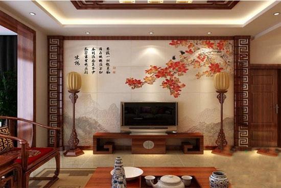 中式客厅沙发装修效果图     中式客厅的简单摆设