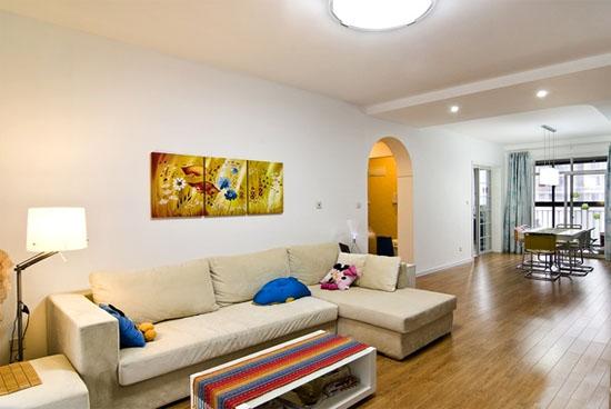2016现代简约家庭客厅装修效果图