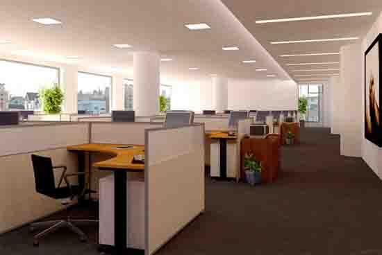 2017现代简约办公室装修效果图
