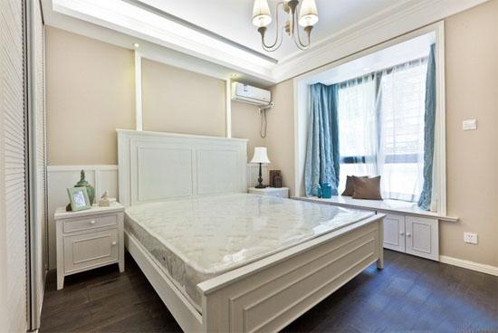 2017欧式主卧室飘窗装修效果图