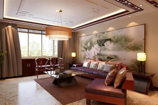 中式客厅沙发装修效果图