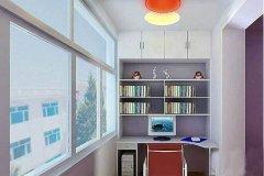 小阳台改造成书房效果图