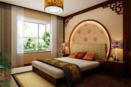 小户型新中式卧室样板房装修效果图