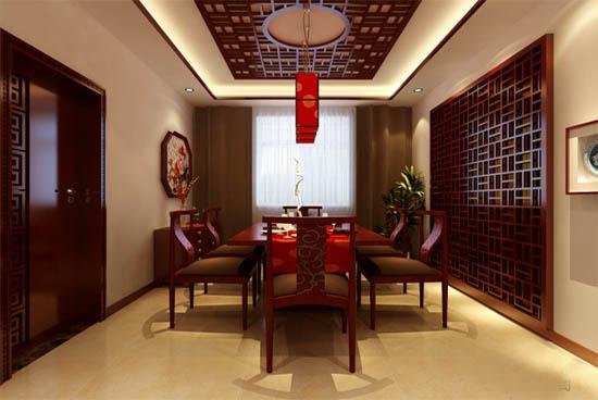 小户型新中式餐厅样板房装修效果图