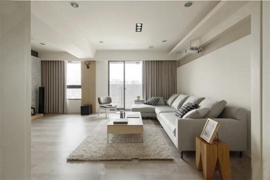现代简约客厅样板房装修效果图