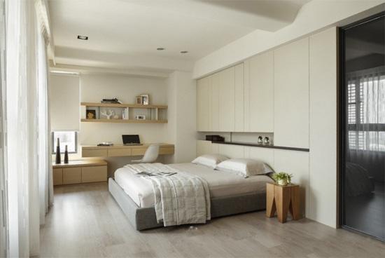 现代简约卧室样板房装修效果图