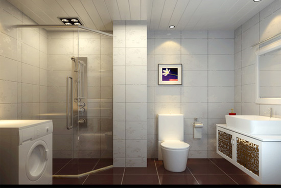 现代简约卫生间样板房装修效果图