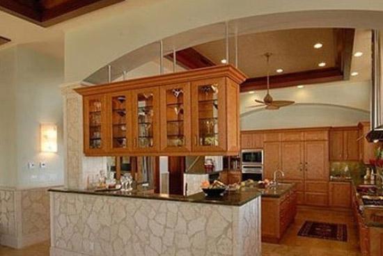 半开放式厨房隔断装修效果图
