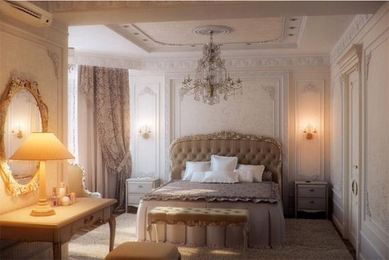 这个欧式房间吊顶装修效果图看起来非常的豪华