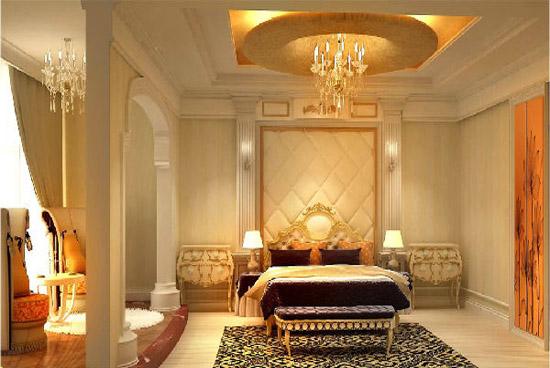 欧式卧室房间吊顶装修效果图