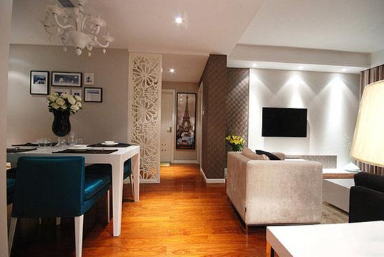 客廳過道走廊室內木制地板磚裝修效果圖片
