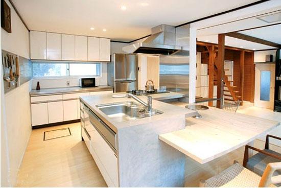 小户型开放式厨房装修色调
