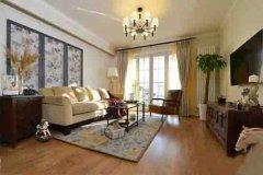 现代简约80平米二居室装修效果图