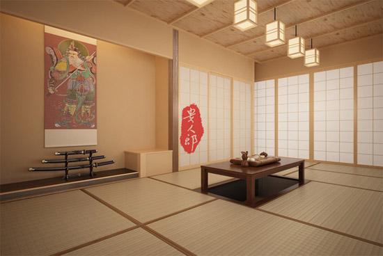 日式书房榻榻米装修效果图