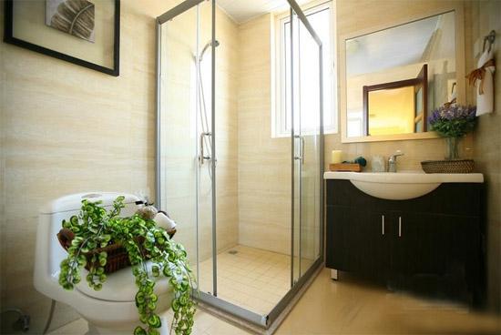 简单装修样板房效果图卫生间