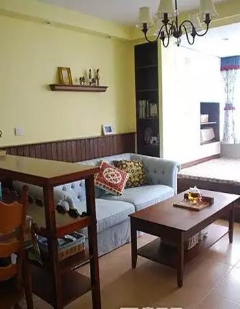 50平米老房子装修效果图(客厅)