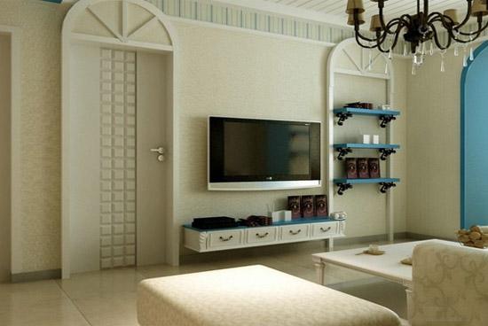 90平米样板间电视背景墙装修效果图