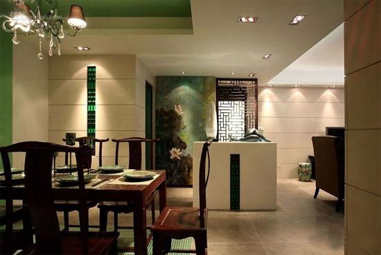 田园新中式餐厅装修效果图