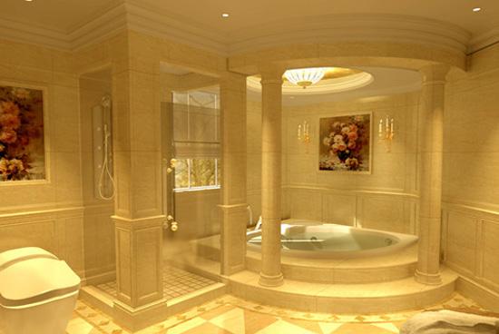 精美欧式古典卫生间装修效果图