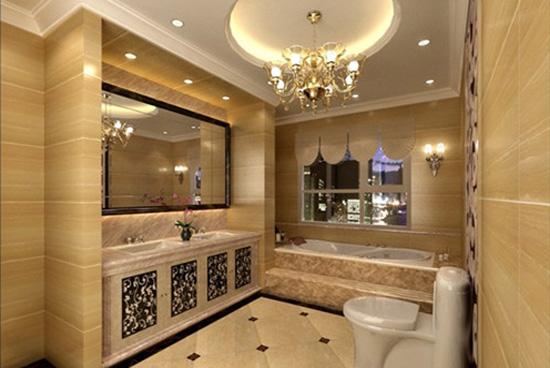 线条欧式古典卫生间装修图