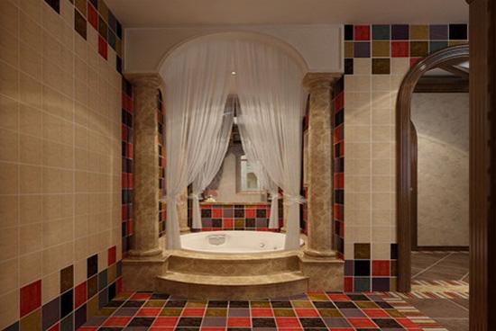 时尚欧式古典卫生间装修效果图