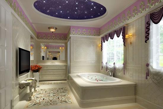 浪漫欧式古典卫生间装修效果图