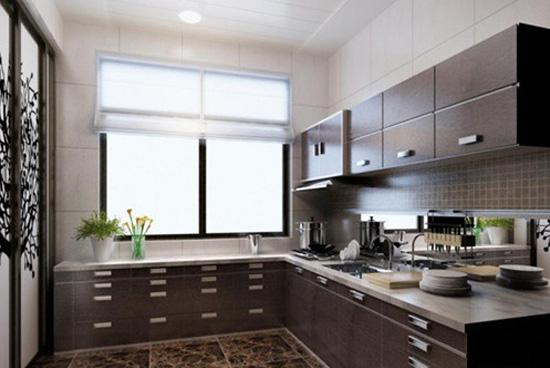 带阳台的厨房装修效果图