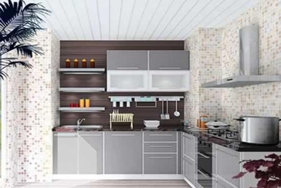 宽阳台厨房装修效果图