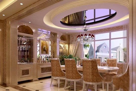 特色家庭餐厅酒柜装修效果图