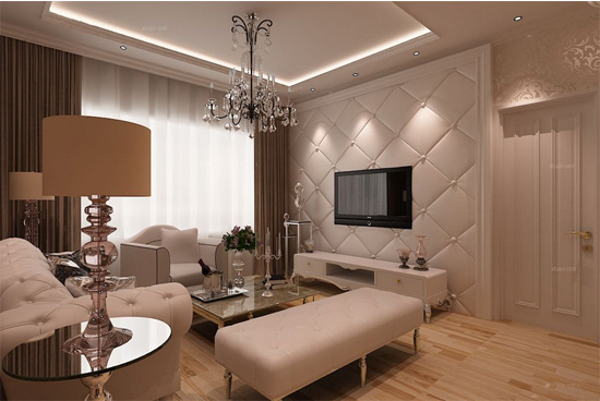 简约欧式客厅装修设计图