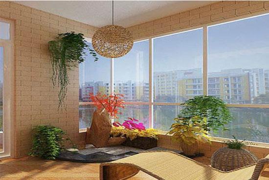 小户型现代简约客厅阳台装修效果图