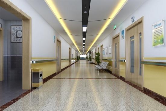 医院病房走廊装修效果图