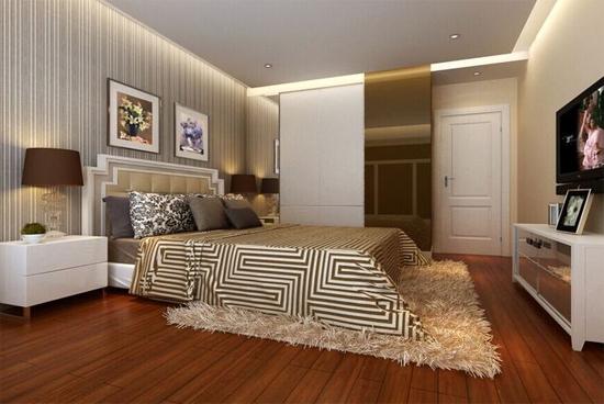 恒大名都现代简约卧室装修效果图