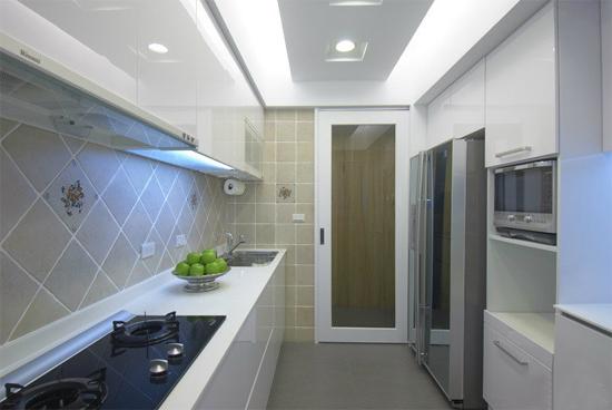 恒大名都现代简约厨房装修效果图