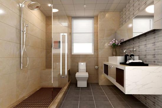 恒大名都现代简约卫生间装修效果图
